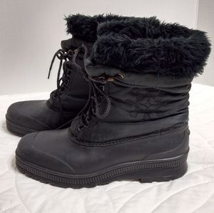 ❄️ Sorel Kaufman Black Winter Snow Boots Lined 10